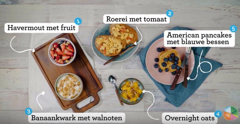 5 Gezonde ontbijtrecepten